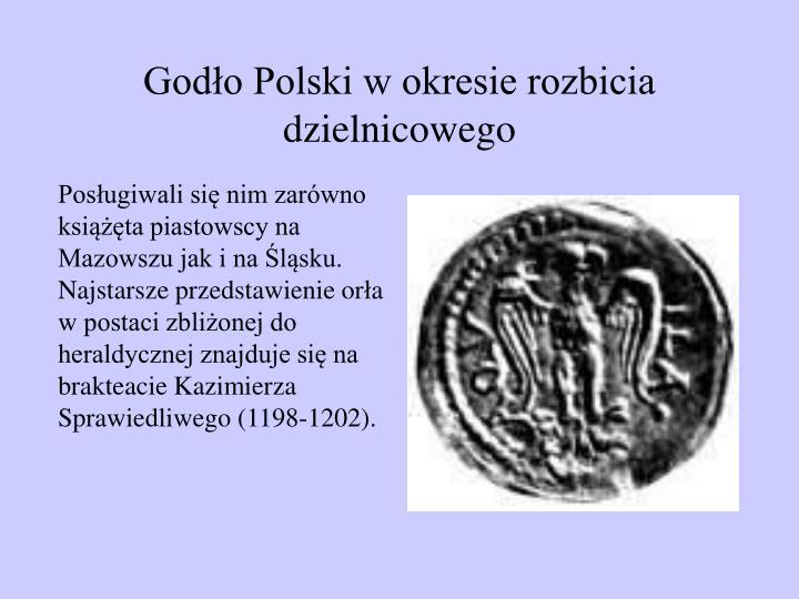 Godło Polski w okresie rozbicia dzielnicowego