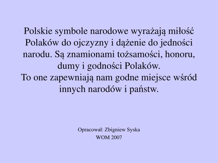 Polskie symbole narodowe wyra