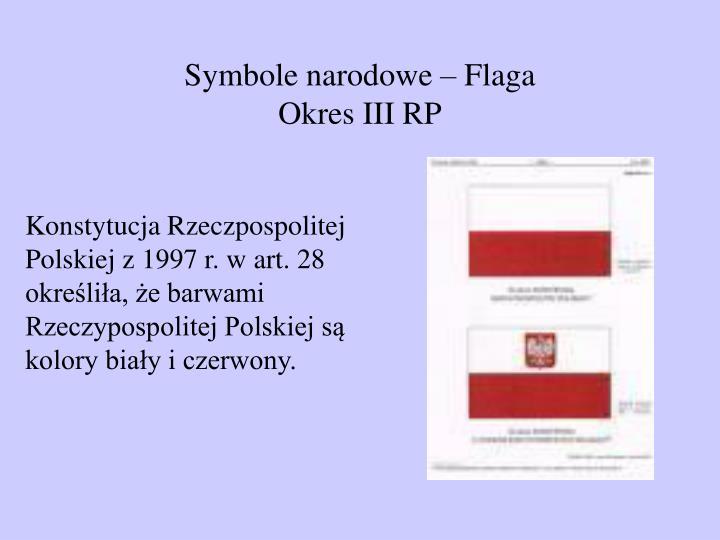 Symbole narodowe – Flaga