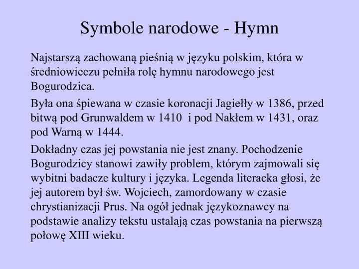 Symbole narodowe - Hymn