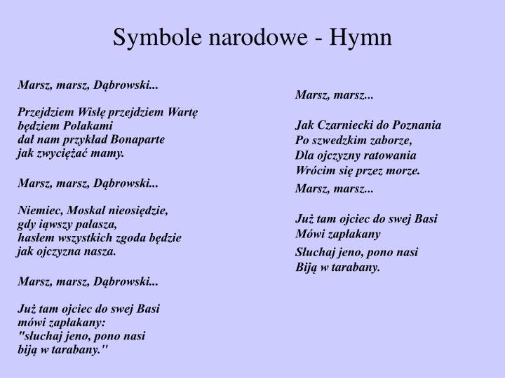 Marsz, marsz, Dąbrowski...