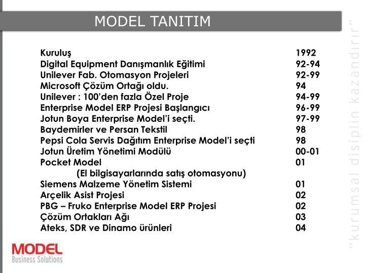 MODEL TANITIM