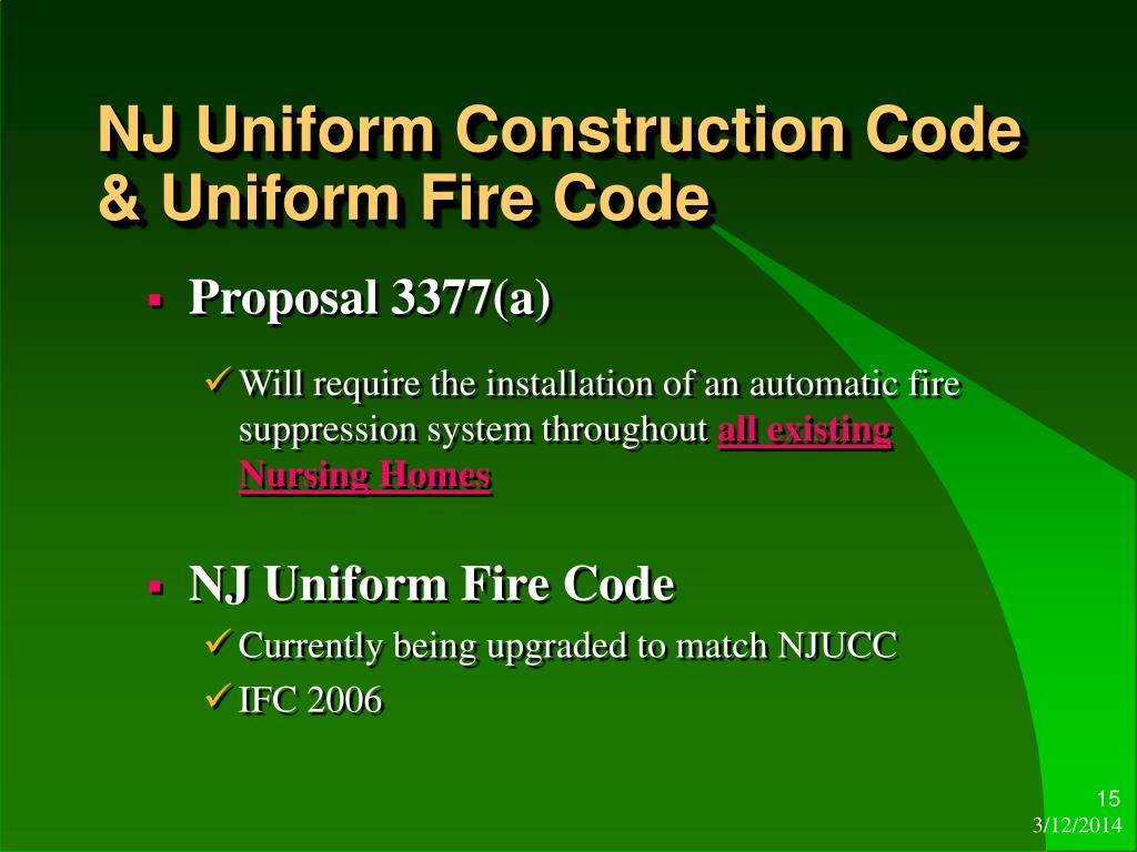 Uniform Construction Codes 101