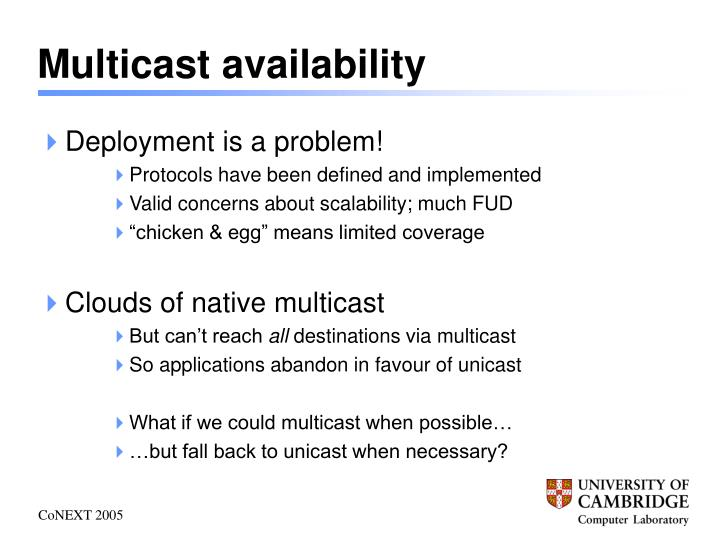Multicast availability