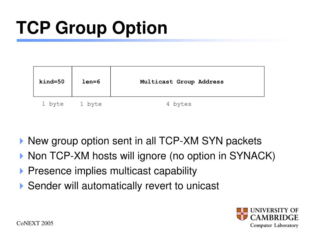 TCP Group Option