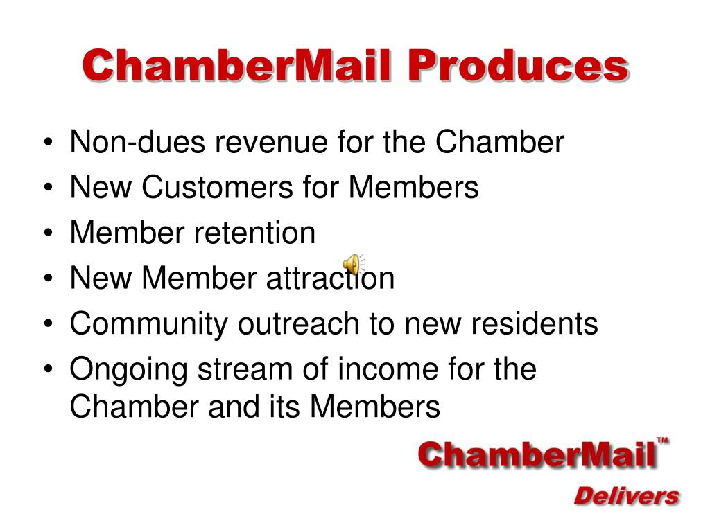 ChamberMail Produces