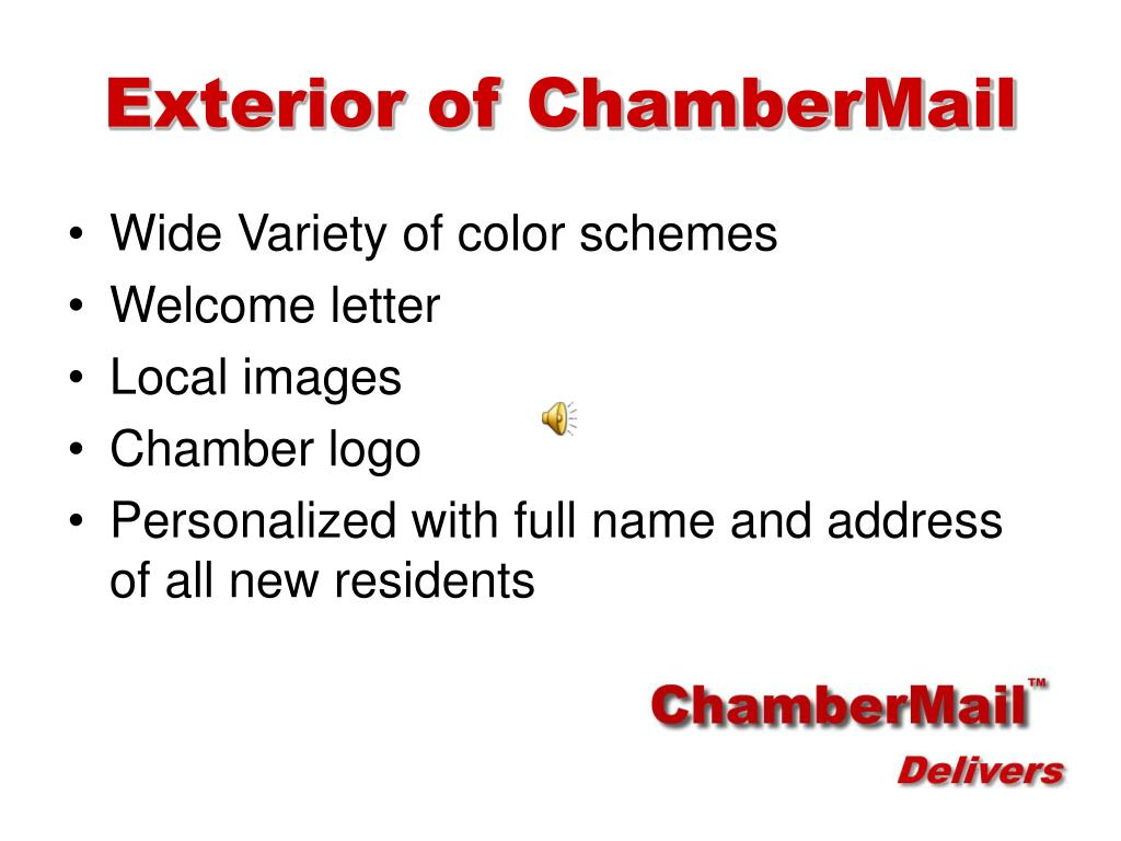 Exterior of ChamberMail