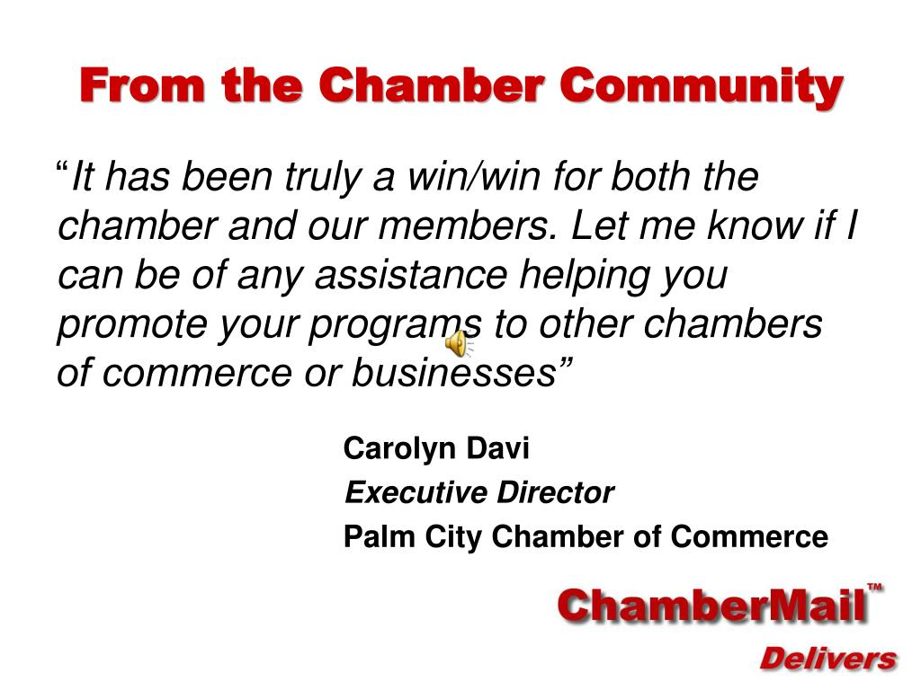 From the Chamber Community