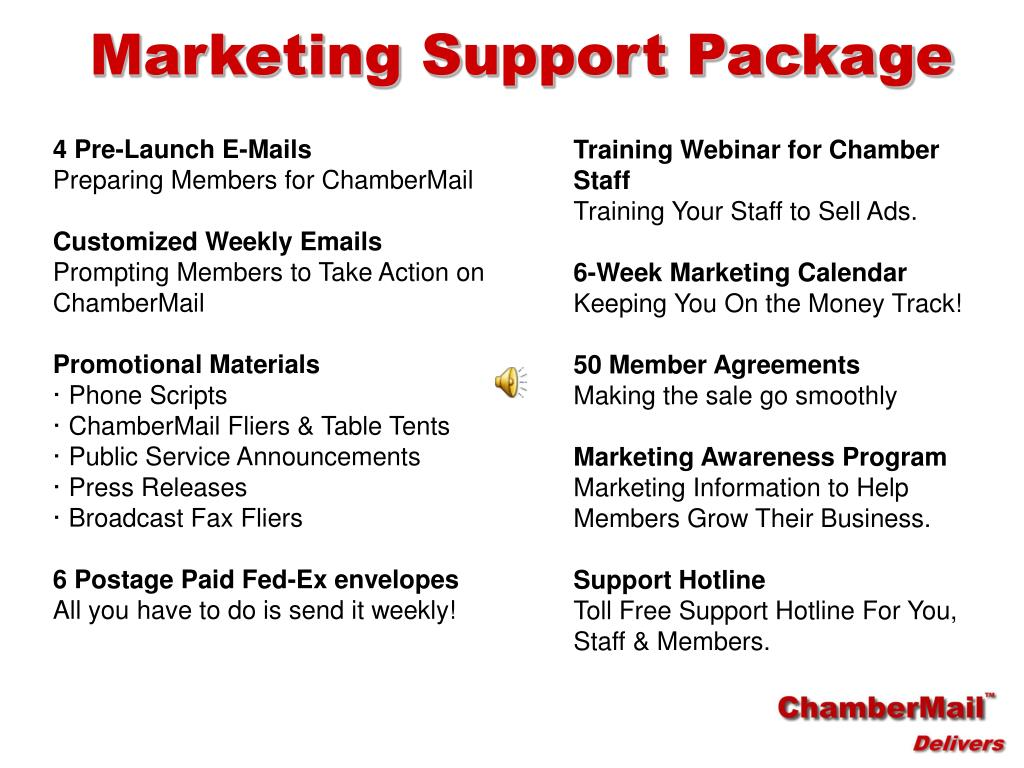 Marketing Support Package