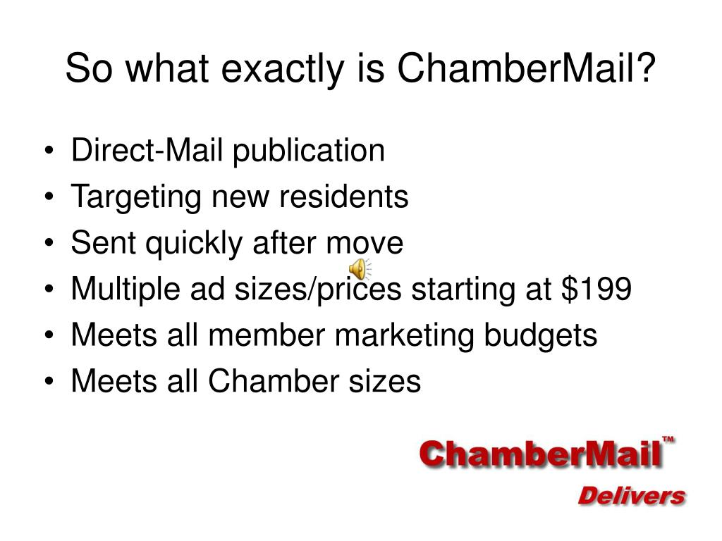 So what exactly is ChamberMail?