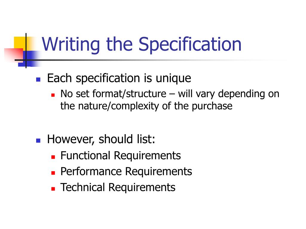 Specification (technical standard)