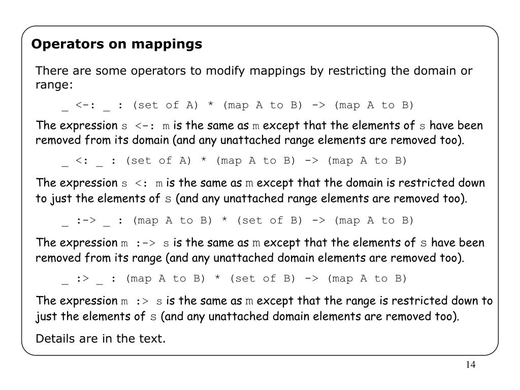 Operators on mappings