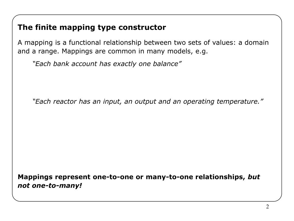 The finite mapping type constructor
