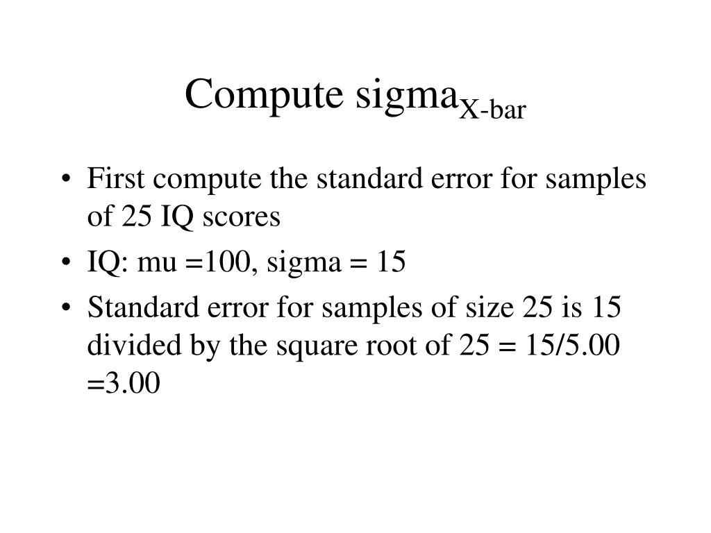 Compute sigma