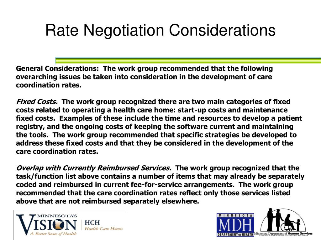 Rate Negotiation Considerations