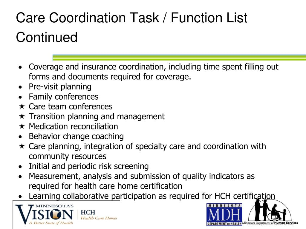 Care Coordination Task / Function List