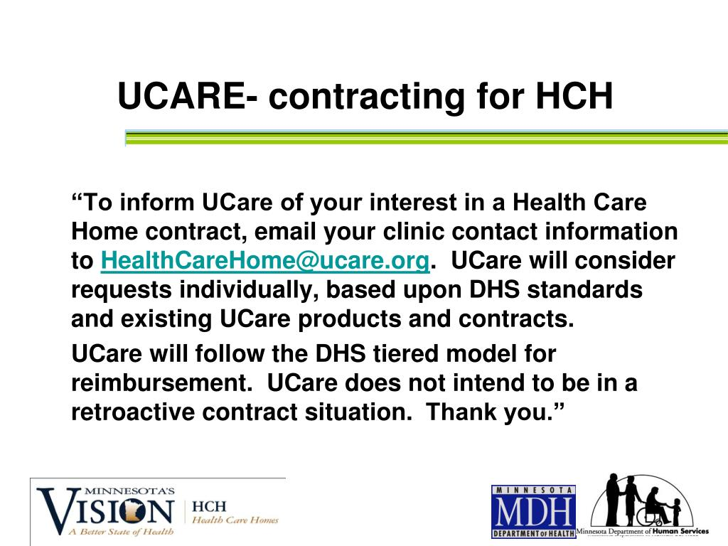 UCARE- contracting for HCH
