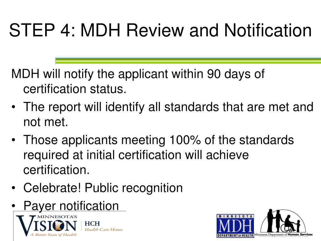 STEP 4: MDH Review and Notification