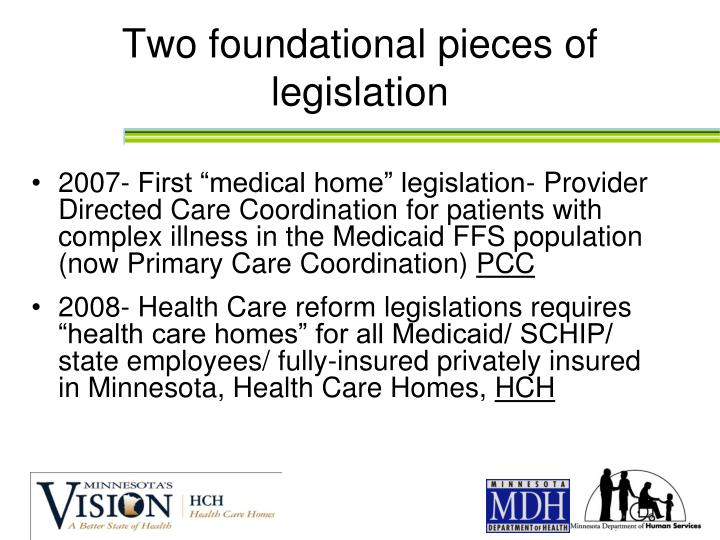 Two foundational pieces of legislation