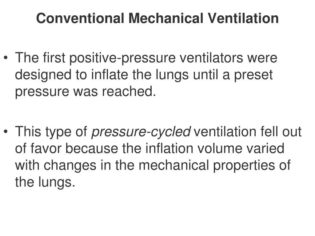 Conventional Mechanical Ventilation