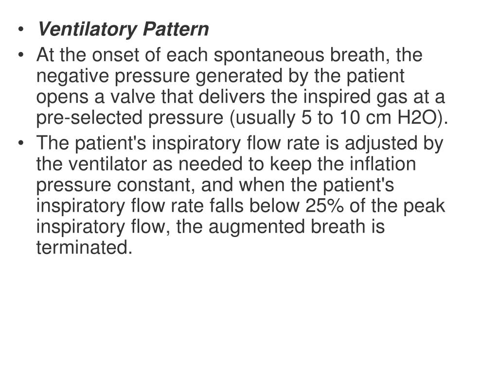 Ventilatory Pattern