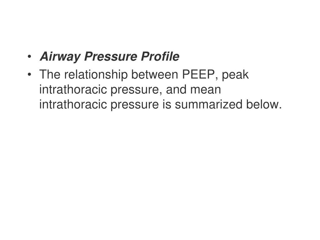 Airway Pressure Profile