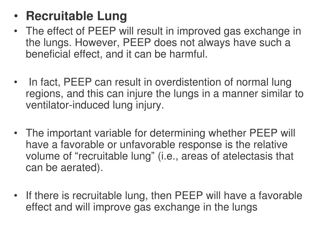 Recruitable Lung