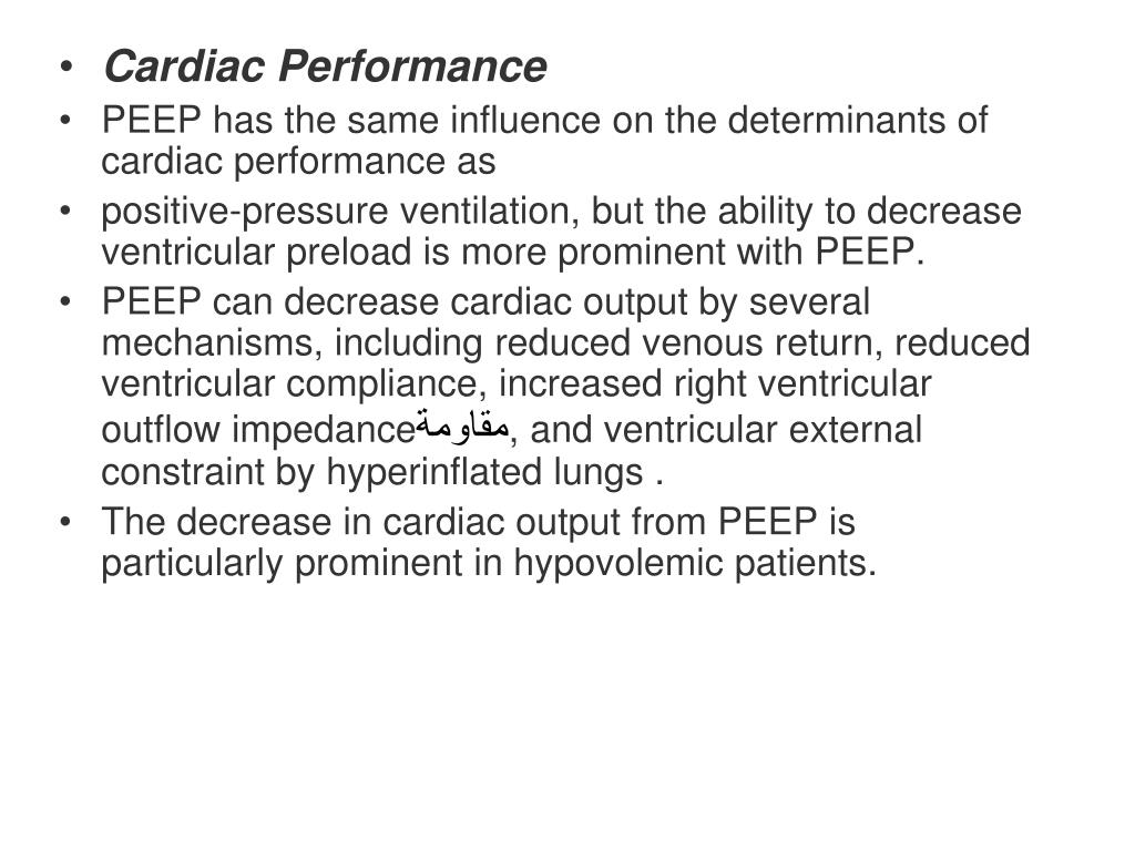 Cardiac Performance