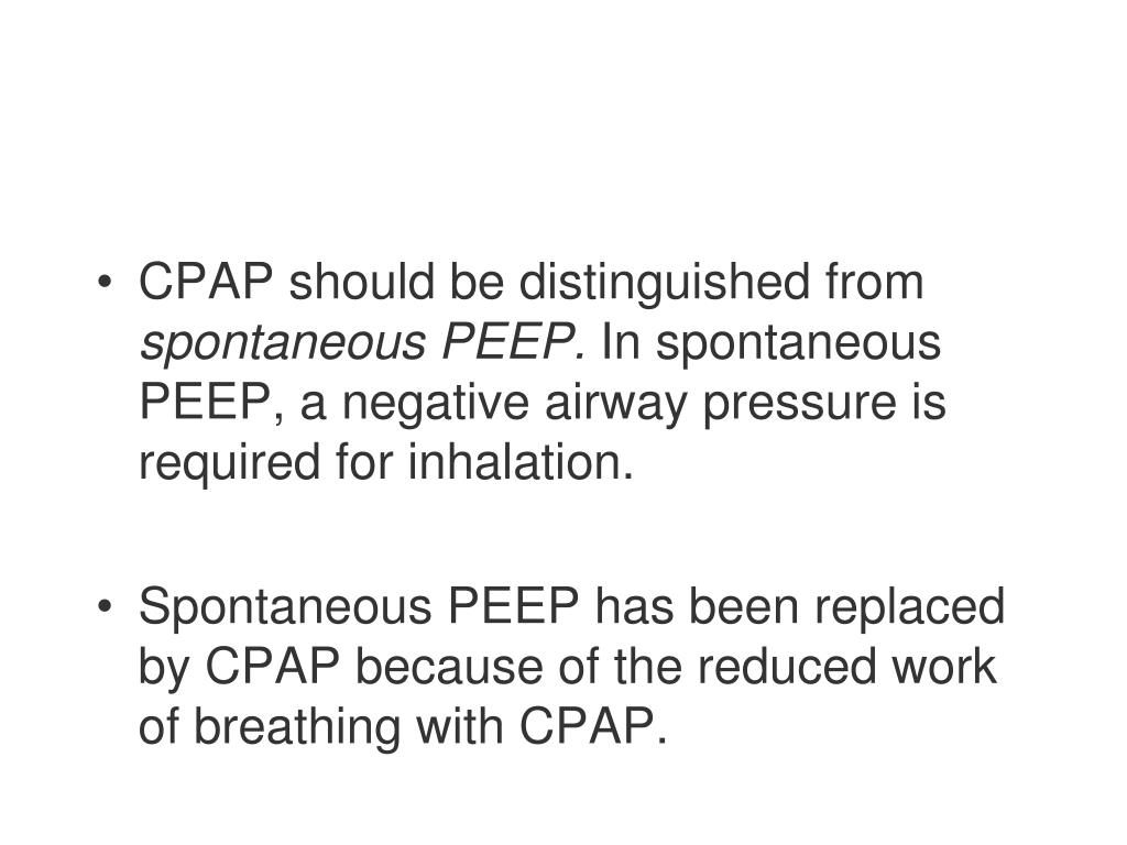 CPAP should be distinguished from