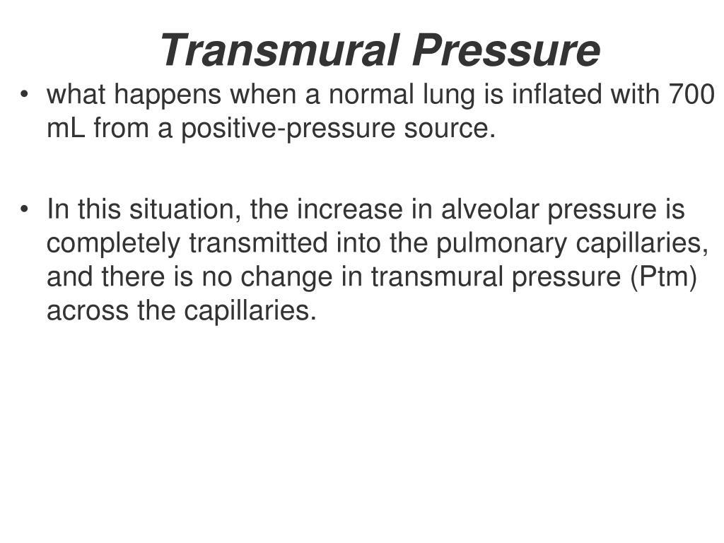 Transmural Pressure
