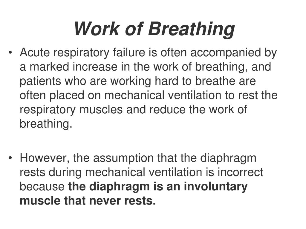 Work of Breathing