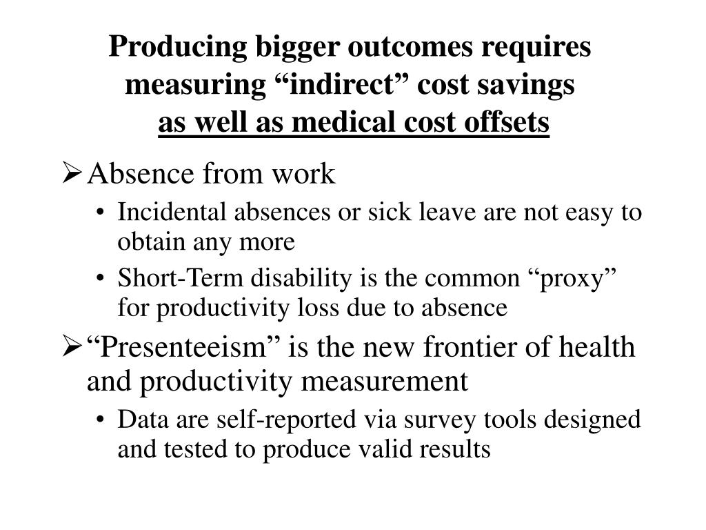 "Producing bigger outcomes requires measuring ""indirect"" cost savings"