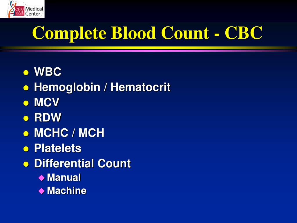 Complete Blood Count - CBC