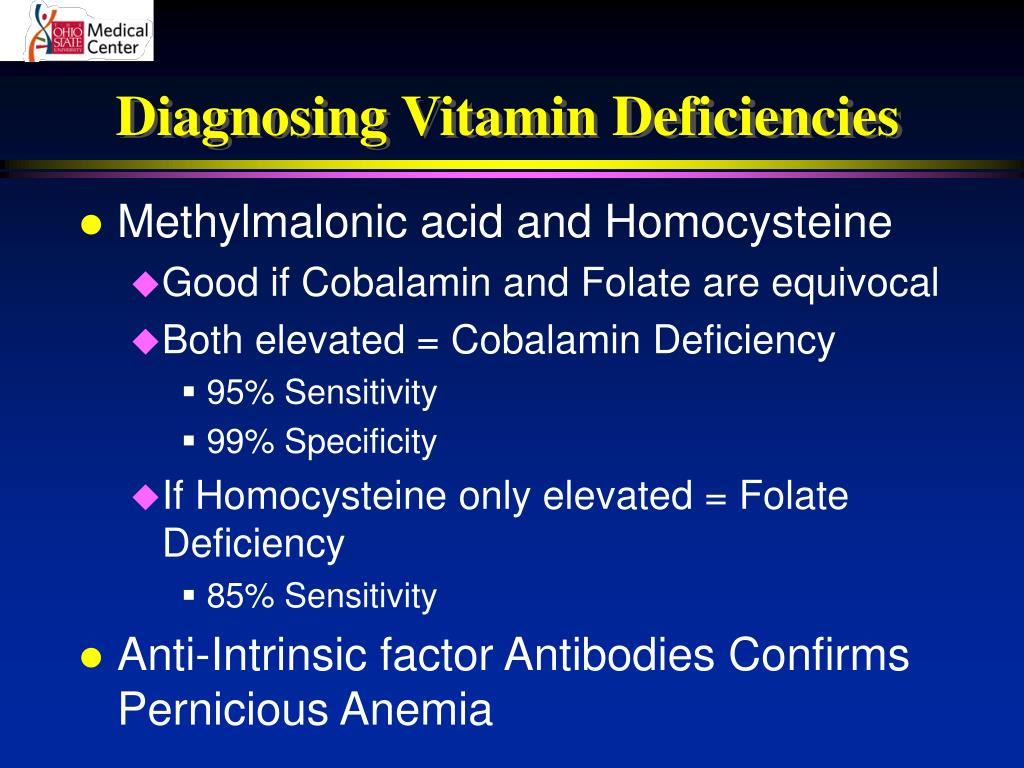 Diagnosing Vitamin Deficiencies