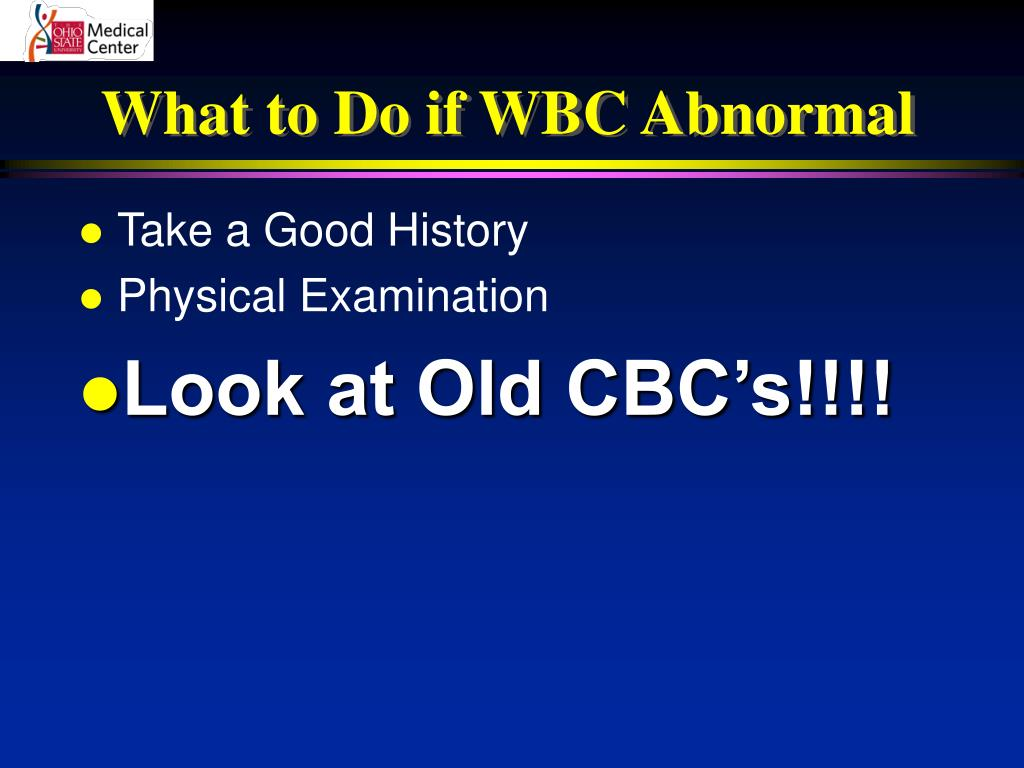 What to Do if WBC Abnormal