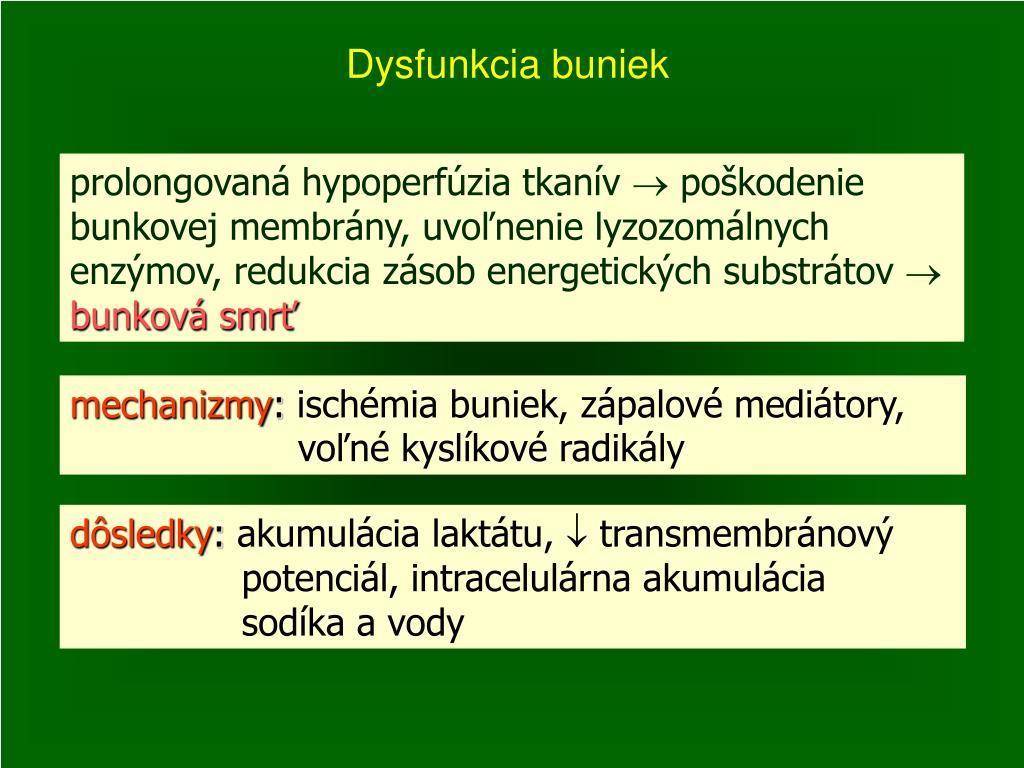 Dysfunkcia buniek
