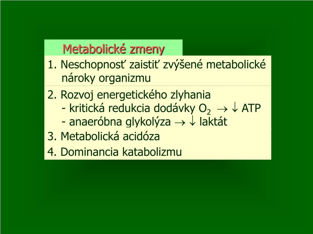 Metabolické zmeny