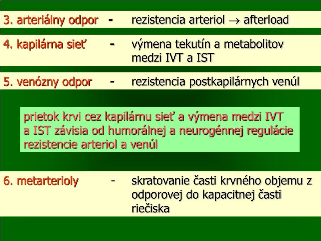 3. arteriálny odpor