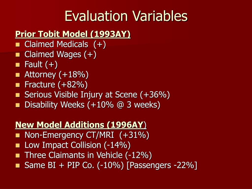 Evaluation Variables