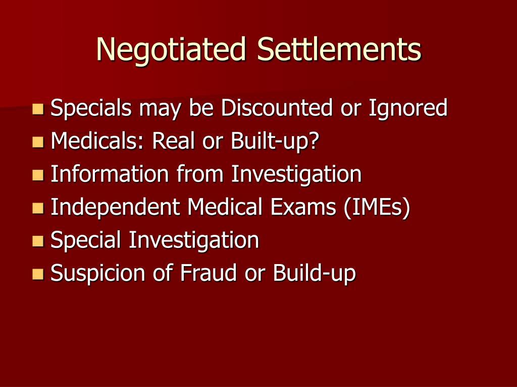 Negotiated Settlements