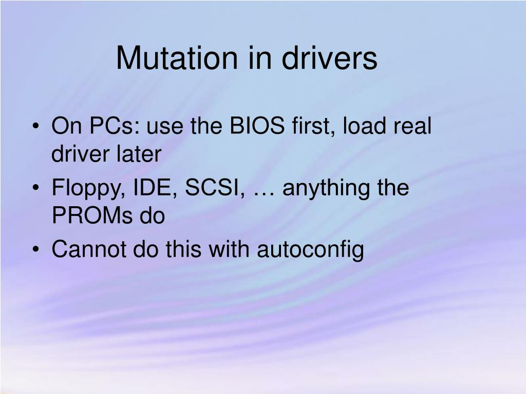 Mutation in drivers