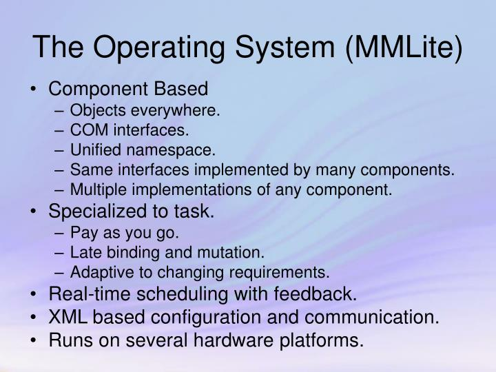 The operating system mmlite