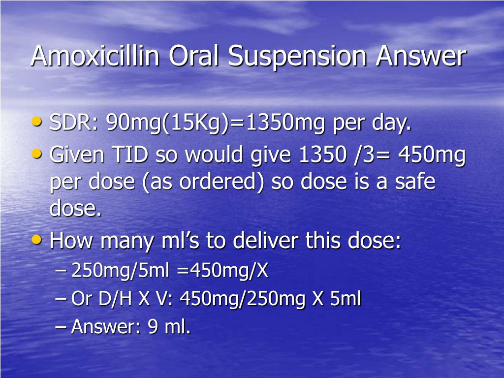 Amoxicillin Oral Suspension Answer
