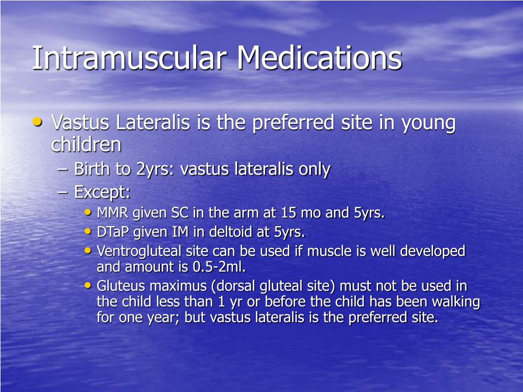 Intramuscular Medications