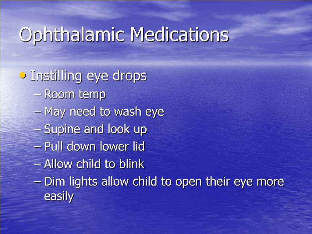 Ophthalamic Medications