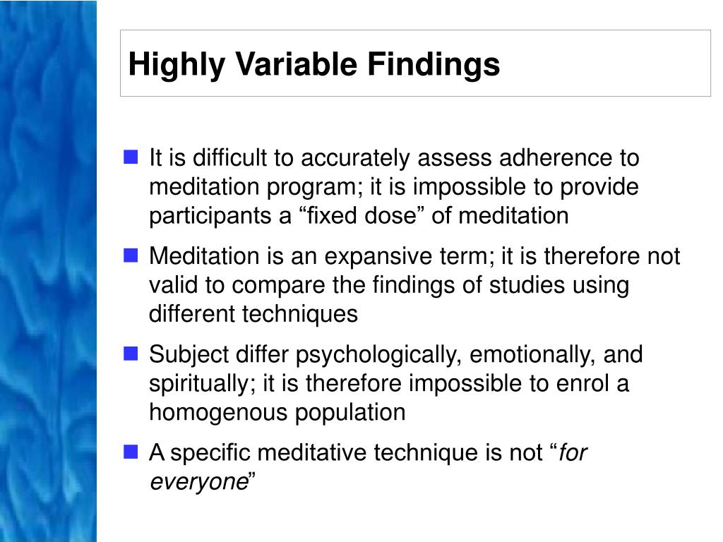 Highly Variable Findings