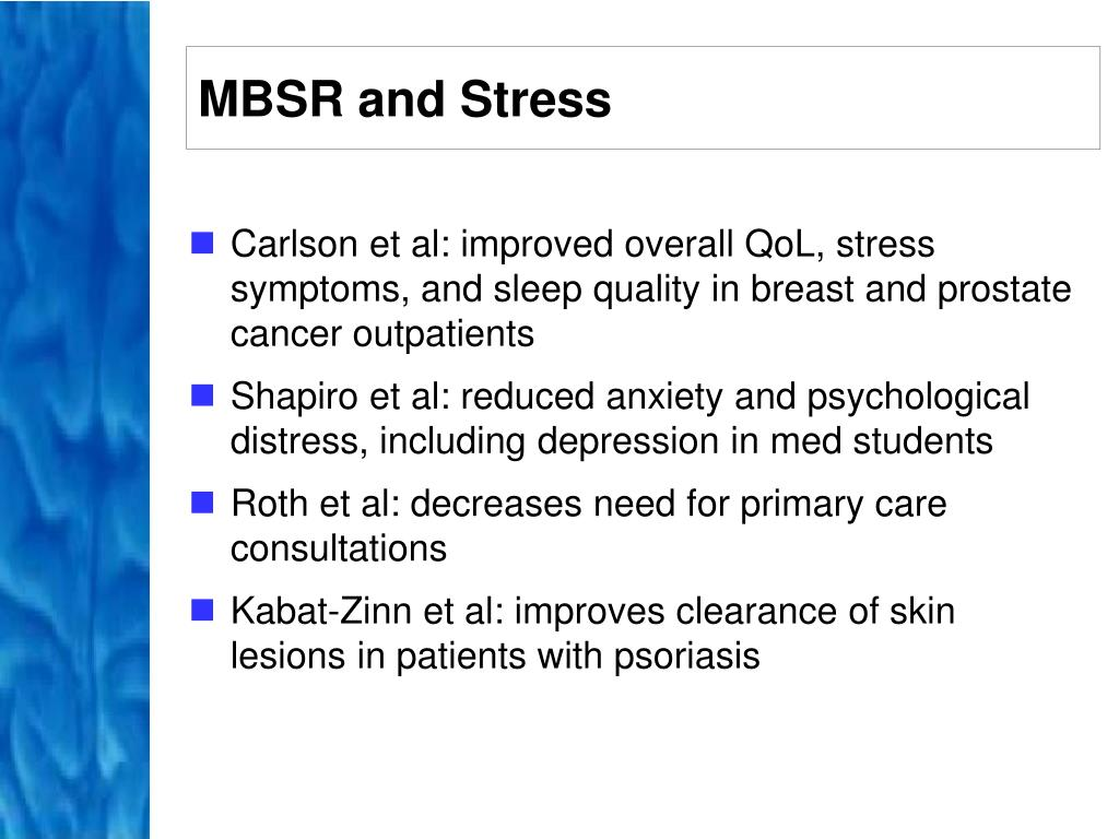 MBSR and Stress