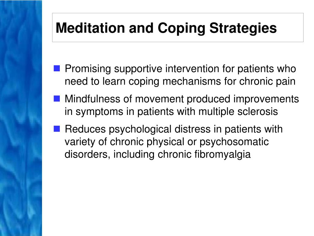 Meditation and Coping Strategies