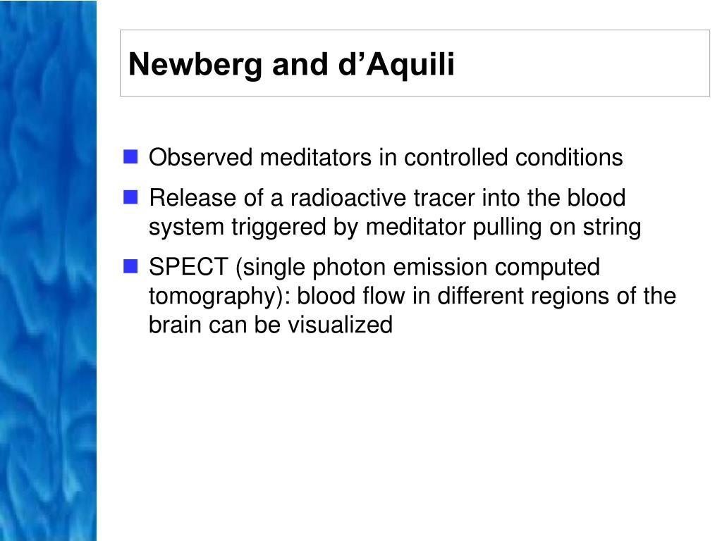 Newberg and d'Aquili