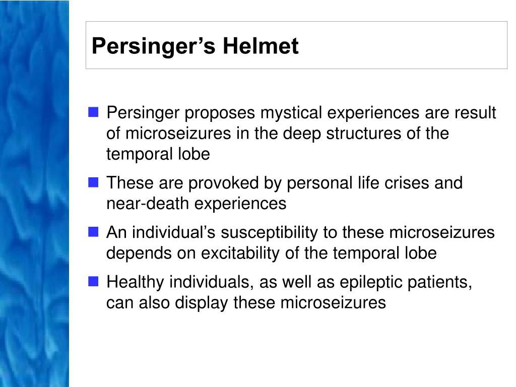 Persinger's Helmet